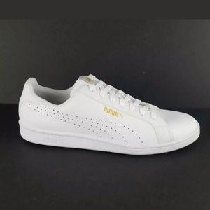 PUMA Men's Smash Perf Sneaker sz 11 White/Gold.
